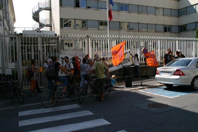 Rassemblement de soutien à Gap...mais aussi à l'Argentière et Briançon